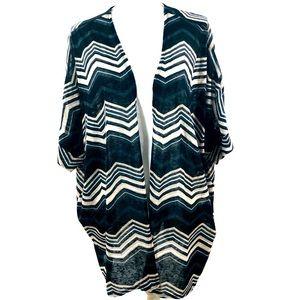 Torrid Chevron Duster Kimono 3X